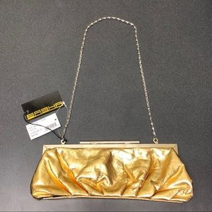 NWT Metallic Gold Clutch Evening Bag Purse